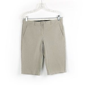Theory Chino Striped Shorts size 8 Gray